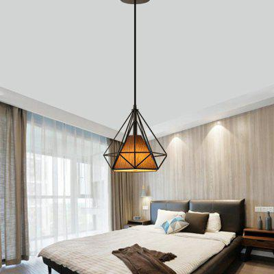 BRELONG Iron Art Creative Diamond Shape Ceiling LampPendant Light<br>BRELONG Iron Art Creative Diamond Shape Ceiling Lamp<br><br>Battery Included: No<br>Bulb Base: E27<br>Bulb Included: Yes<br>Chain / Cord Length ( CM ): 145<br>Features: Bulb Included<br>Fixture Height ( CM ): 45<br>Fixture Length ( CM ): 45<br>Fixture Width ( CM ): 45<br>Light Direction: Ambient Light<br>Number of Bulb: 1 Bulb<br>Number of Bulb Sockets: 1<br>Package Contents: 1 x Ceiling Lamp, 1 x Bulb<br>Package size (L x W x H): 45.05 x 45.05 x 145.05 cm / 17.74 x 17.74 x 57.11 inches<br>Package weight: 3.8500 kg<br>Product weight: 3.4000 kg<br>Shade Material: Cloth, Iron<br>Style: Modern/Contemporary<br>Suggested Room Size: 20 - 30?<br>Suggested Space Fit: Indoors<br>Type: Chandeliers<br>Voltage ( V ): AC220