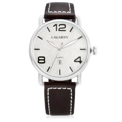 CAGARNY 6815 Concise Quartz Men WatchMens Watches<br>CAGARNY 6815 Concise Quartz Men Watch<br><br>Band material: Leather<br>Band size: 21.9 x 2cm<br>Brand: Cagarny<br>Case material: Alloy<br>Clasp type: Pin buckle<br>Dial size: 4.4 x 4.4 x 1cm<br>Display type: Analog<br>Movement type: Quartz watch<br>Package Contents: 1 x Watch, 1 x Box<br>Package size (L x W x H): 37.30 x 12.40 x 8.50 cm / 14.69 x 4.88 x 3.35 inches<br>Package weight: 0.1400 kg<br>Product size (L x W x H): 26.30 x 4.40 x 1.00 cm / 10.35 x 1.73 x 0.39 inches<br>Product weight: 0.0480 kg<br>Shape of the dial: Round<br>Watch style: Casual, Fashion<br>Watches categories: Men<br>Water resistance : Life water resistant<br>Wearable length: 20.1 - 24.3cm