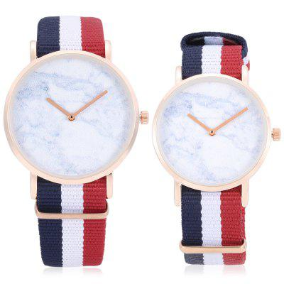 CAGARNY Quartz Couple WatchesCouples Watches<br>CAGARNY Quartz Couple Watches<br><br>Band material: Nylon<br>Brand: Cagarny<br>Case material: Alloy<br>Clasp type: Pin buckle<br>Display type: Analog<br>Movement type: Quartz watch<br>Package Contents: 1 x Couple Watches, 1 x Box, 1 x Couple Watches, 1 x Box<br>Package size (L x W x H): 11.00 x 8.00 x 7.50 cm / 4.33 x 3.15 x 2.95 inches, 11.00 x 8.00 x 7.50 cm / 4.33 x 3.15 x 2.95 inches<br>Package weight: 0.1600 kg, 0.1600 kg<br>Shape of the dial: Round<br>The female dial dimension (L x W x H): 3.6 x 3.6 x 0.7cm, 3.6 x 3.6 x 0.7cm<br>The female size (L x W x H): 24 x 3.6 x 0.7cm, 24 x 3.6 x 0.7cm<br>The female watch band dimension (L x W): 20.4 x 1.8cm, 20.4 x 1.8cm<br>The female watch weight: 0.028kg, 0.028kg<br>The male dial dimension (L x W x H): 4 x 4 x 0.8cm, 4 x 4 x 0.8cm<br>The male watch band dimension (L x W): 21.5 x 2cm, 21.5 x 2cm<br>The male watch size (L x W x H): 25.5 x 4 x 0.8cm, 25.5 x 4 x 0.8cm<br>The male watch weight: 0.032kg, 0.032kg<br>Watch style: Casual, Fashion<br>Watches categories: Couple tables<br>Water resistance : Life water resistant