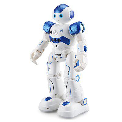 JJRC R2 CADY WIDA Intelligent RC Robot - RTRRC Robot<br>JJRC R2 CADY WIDA Intelligent RC Robot - RTR<br><br>Age: Above 8 years old<br>Brand: JJRC<br>Charging Time: 1.5 Hours<br>Features: IR Remote Control<br>Functions: With music, With light, Turn left/right, Programming, Patrol, Obstacle Avoidance, Gesture Control, Forward/backward, Dance, Auto Demonstration<br>Material: ABS/PS, Electronic Components<br>Model Power: Built-in rechargeable battery<br>Night Playing: Yes<br>Operation Time: 1 hour<br>Package Contents: 1 x RC Robot ( Battery Included ), 1 x IR Transmitter, 1 x USB Cable, 1 x English Manual<br>Package size (L x W x H): 29.50 x 17.80 x 11.50 cm / 11.61 x 7.01 x 4.53 inches<br>Package weight: 0.8300 kg<br>Product size (L x W x H): 16.00 x 8.00 x 26.50 cm / 6.3 x 3.15 x 10.43 inches<br>Product weight: 0.3477 kg<br>Remote Control: IR Remote Control<br>Transmitter Power: 2 x 1.5V AA battery(not included)