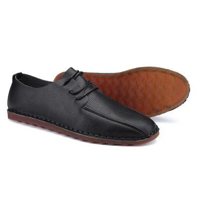 Male Casual Solid Color Lace Up Leisure Doug Shoes