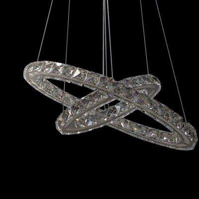 Crystal Stainless Steel Annular Pendant Light 220V