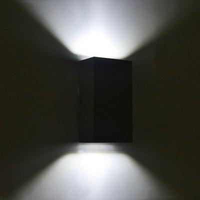 Buy BLACK JIAWEN BD 10W 003 LED Rectangle Double Sides Wall Light for $26.78 in GearBest store