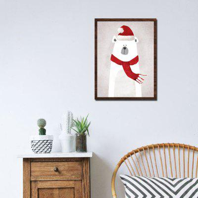 Modern Print Christmas Bear Wall Decor
