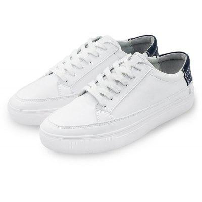 Male Simple Casual Daily Flat Lace Up Leisure Sneakers