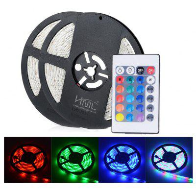2 stks HML 5M Waterproof RGB LED Strip Light