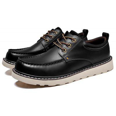 Male Soft Slip Resistance Stitching Leather Formal Shoes