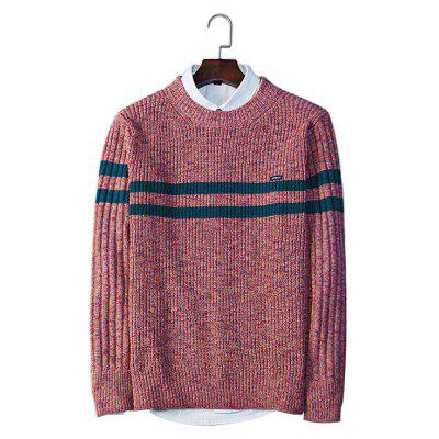 Casual Round Collar Sweater de manga comprida