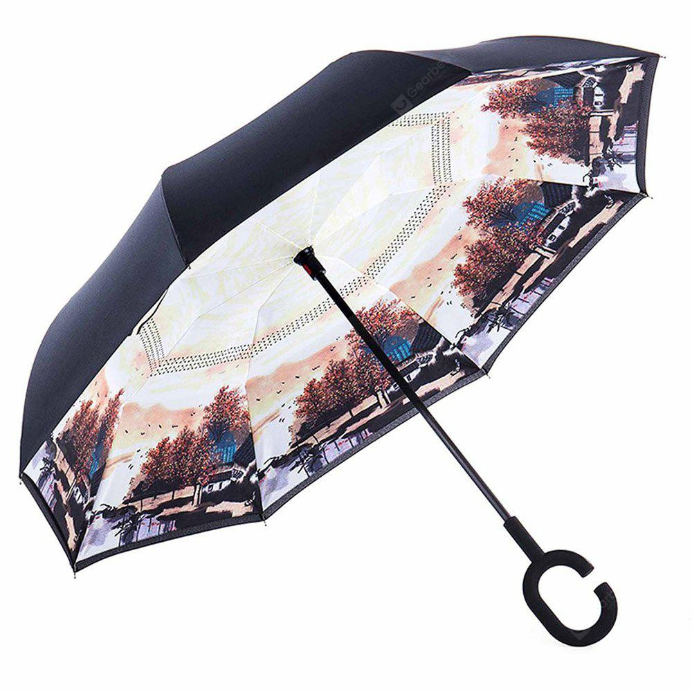 Poetic Windproof Inverted Double-layer Umbrella