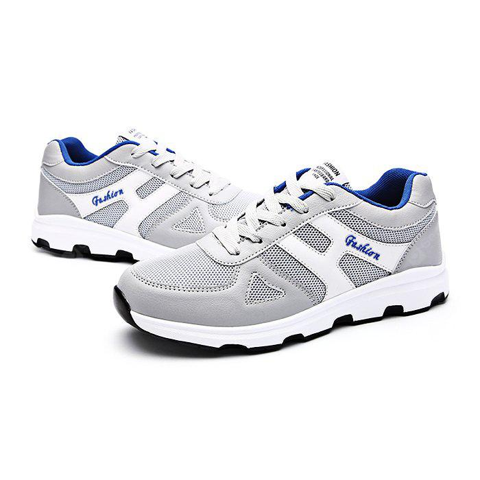 Male Breathable Fashionable Mesh Light Leather Sneakers