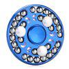 Round Zinc Alloy Fidget Spinner with 27 Beads - BLUE