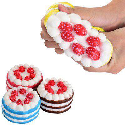 1pc Cute Release Stress Slow Rising Jumbo Squishy Toys Strawberry Cake