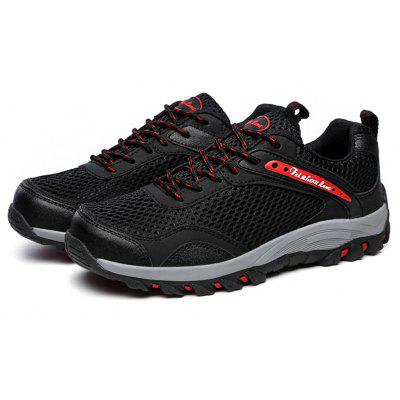 Buy BLACK Male Anti Slip Mesh Light Outdoor Hiking Athletic Shoes for $34.46 in GearBest store