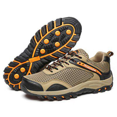 Male Anti Slip Mesh Light Outdoor Hiking SneakersAthletic Shoes<br>Male Anti Slip Mesh Light Outdoor Hiking Sneakers<br><br>Closure Type: Lace-Up<br>Contents: 1 x Pair of Shoes<br>Function: Slip Resistant<br>Materials: Mesh, Rubber, Artificial leather<br>Occasion: Sports, Outdoor Clothing, Holiday, Daily, Casual, Running<br>Outsole Material: Rubber<br>Package Size ( L x W x H ): 33.00 x 22.00 x 11.00 cm / 12.99 x 8.66 x 4.33 inches<br>Package Weights: 0.92kg<br>Seasons: Autumn,Spring<br>Style: Modern, Leisure, Fashion, Comfortable, Casual<br>Toe Shape: Round Toe<br>Type: Hiking Shoes<br>Upper Material: Artificial leather,Mesh