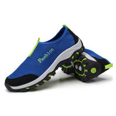 Male Breathable Mesh Flat Boat Slip On Leisure Shoes
