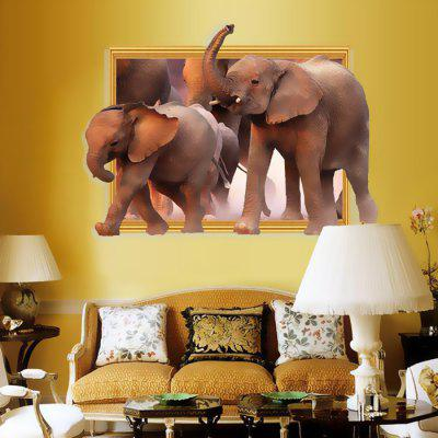 3D Elephant Design Wall StickerWall Stickers<br>3D Elephant Design Wall Sticker<br><br>Function: 3D Effect, Decorative Wall Sticker<br>Material: Vinyl(PVC), Self-adhesive Plastic<br>Package Contents: 1 x Sticker<br>Package size (L x W x H): 60.00 x 4.00 x 4.00 cm / 23.62 x 1.57 x 1.57 inches<br>Package weight: 0.2400 kg<br>Product weight: 0.1500 kg<br>Subjects: Animal<br>Suitable Space: Bedroom,Kids Room,Living Room<br>Type: Plane Wall Sticker, 3D Wall Sticker