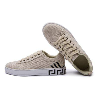 Male Stylish Breathable Anti Slip Fabric Flat Leisure ShoesCasual Shoes<br>Male Stylish Breathable Anti Slip Fabric Flat Leisure Shoes<br><br>Closure Type: Lace-Up<br>Contents: 1 x Pair of Shoes<br>Function: Slip Resistant<br>Materials: Rubber, Fabric<br>Occasion: Tea Party, Shopping, Holiday, Daily, Casual<br>Outsole Material: Rubber<br>Package Size ( L x W x H ): 33.00 x 24.00 x 13.00 cm / 12.99 x 9.45 x 5.12 inches<br>Package Weights: 0.82kg<br>Seasons: Autumn,Spring<br>Style: Modern, Leisure, Fashion, Comfortable, Casual<br>Toe Shape: Round Toe<br>Type: Casual Shoes<br>Upper Material: Cotton Fabric
