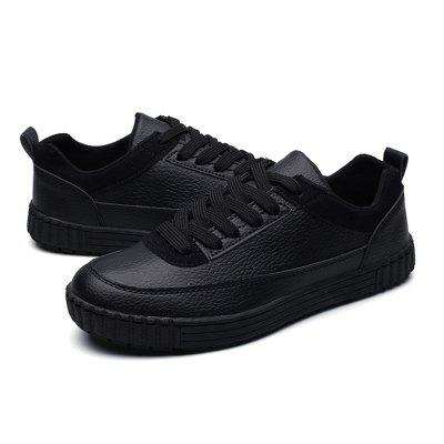Male Casual Anti Slip Solid Color Lace Up Leather ShoesCasual Shoes<br>Male Casual Anti Slip Solid Color Lace Up Leather Shoes<br><br>Closure Type: Lace-Up<br>Contents: 1 x Pair of Shoes<br>Function: Slip Resistant<br>Materials: Rubber, Leather<br>Occasion: Tea Party, Holiday, Daily, Casual, Shopping<br>Outsole Material: Rubber<br>Package Size ( L x W x H ): 33.00 x 22.00 x 11.00 cm / 12.99 x 8.66 x 4.33 inches<br>Package Weights: 0.77kg<br>Pattern Type: Solid<br>Seasons: Autumn,Spring<br>Style: Modern, Leisure, Fashion, Comfortable, Casual<br>Toe Shape: Round Toe<br>Type: Casual Leather Shoes<br>Upper Material: Leather