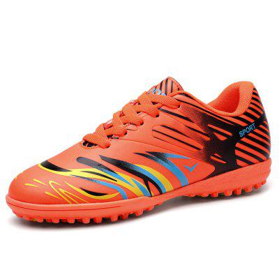 Male Bright Color Striped Spike Leather Soccer SneakersAthletic Shoes<br>Male Bright Color Striped Spike Leather Soccer Sneakers<br><br>Closure Type: Lace-Up<br>Contents: 1 x Pair of Shoes<br>Decoration: Stripe<br>Function: Slip Resistant<br>Materials: Rubber, Leather<br>Occasion: Sports, Outdoor Clothing, Holiday, Daily, Casual, Soccer<br>Outsole Material: Rubber<br>Package Size ( L x W x H ): 33.00 x 22.00 x 11.00 cm / 12.99 x 8.66 x 4.33 inches<br>Package Weights: 0.72kg<br>Pattern Type: Stripe<br>Seasons: Autumn,Spring<br>Style: Modern, Leisure, Fashion, Comfortable, Casual<br>Toe Shape: Round Toe<br>Type: Sports Shoes<br>Upper Material: Leather