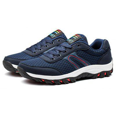 Male Breathable Lace Up Light Mesh Running Sneakers