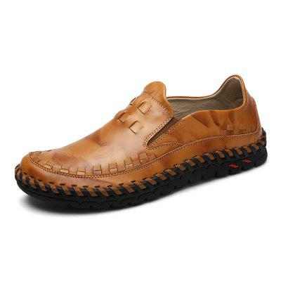 Male Stylish Casual Solid Color Slip On Soft Leather ShoesMen's Oxford<br>Male Stylish Casual Solid Color Slip On Soft Leather Shoes<br><br>Closure Type: Slip-On<br>Contents: 1 x Pair of Shoes<br>Decoration: Weave<br>Function: Slip Resistant<br>Materials: Rubber, Leather<br>Occasion: Tea Party, Party, Office, Casual, Shopping, Daily, Holiday<br>Outsole Material: Rubber<br>Package Size ( L x W x H ): 33.00 x 22.00 x 11.00 cm / 12.99 x 8.66 x 4.33 inches<br>Package Weights: 0.97kg<br>Pattern Type: Solid<br>Seasons: Autumn,Spring<br>Style: Modern, Leisure, Fashion, Comfortable, Casual, Business<br>Toe Shape: Round Toe<br>Type: Casual Leather Shoes<br>Upper Material: Leather