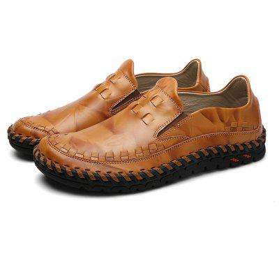 Masculino Stylish Casual Solid Color Slip On Soft Oxford Shoes