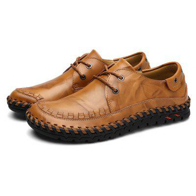 Masculino Casual Business Anti Slip Lace Up Soft Oxford Shoes