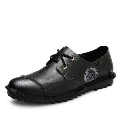 Male Casual Anti Slip Pattern Lace Up Soft Leather ShoesMen's Oxford<br>Male Casual Anti Slip Pattern Lace Up Soft Leather Shoes<br><br>Closure Type: Lace-Up<br>Contents: 1 x Pair of Shoes<br>Function: Slip Resistant<br>Materials: Rubber, Leather<br>Occasion: Tea Party, Shopping, Office, Holiday, Party, Casual, Daily<br>Outsole Material: Rubber<br>Package Size ( L x W x H ): 33.00 x 22.00 x 11.00 cm / 12.99 x 8.66 x 4.33 inches<br>Package Weights: 0.97kg<br>Pattern Type: Solid, Animal<br>Seasons: Autumn,Spring<br>Style: Modern, Leisure, Fashion, Comfortable, Casual, Business<br>Toe Shape: Round Toe<br>Type: Casual Leather Shoes<br>Upper Material: Leather