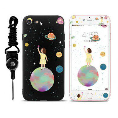 Cartoon Girl Universe Phone Cover for iPhone 7