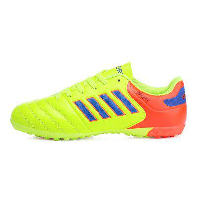 Male Anti Slip Light Bright Color Outdoor Soccer SneakersAthletic Shoes<br>Male Anti Slip Light Bright Color Outdoor Soccer Sneakers<br><br>Closure Type: Lace-Up<br>Contents: 1 x Pair of Shoes<br>Decoration: Stripe<br>Function: Slip Resistant<br>Materials: Rubber, Artificial leather<br>Occasion: Sports, Soccer, Outdoor Clothing, Daily, Casual<br>Outsole Material: Rubber<br>Package Size ( L x W x H ): 33.00 x 22.00 x 11.00 cm / 12.99 x 8.66 x 4.33 inches<br>Package Weights: 0.72kg<br>Pattern Type: Stripe<br>Seasons: Autumn,Spring<br>Style: Modern, Leisure, Fashion, Comfortable, Casual<br>Toe Shape: Round Toe<br>Type: Sports Shoes<br>Upper Material: Artificial leather