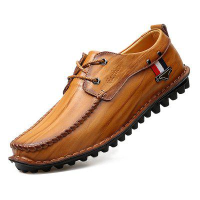 Male Casual Anti Slip Stitching Lace Up Soft Leather ShoesMen's Oxford<br>Male Casual Anti Slip Stitching Lace Up Soft Leather Shoes<br><br>Closure Type: Lace-Up<br>Contents: 1 x Pair of Shoes<br>Decoration: Stripe<br>Function: Slip Resistant<br>Materials: Rubber, Leather<br>Occasion: Tea Party, Party, Office, Casual, Shopping, Daily, Holiday<br>Outsole Material: Rubber<br>Package Size ( L x W x H ): 33.00 x 22.00 x 11.00 cm / 12.99 x 8.66 x 4.33 inches<br>Package Weights: 0.97kg<br>Pattern Type: Stripe<br>Seasons: Autumn,Spring<br>Style: Modern, Leisure, Fashion, Comfortable, Casual, Business<br>Toe Shape: Round Toe<br>Type: Casual Leather Shoes<br>Upper Material: Leather