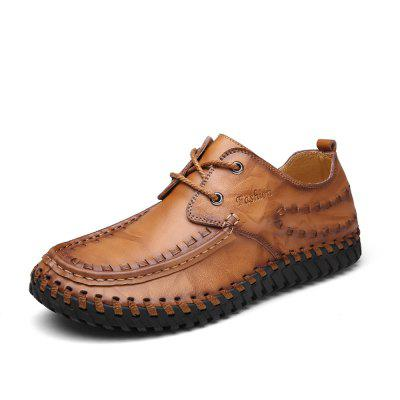 Male Modern Casual Soft Anti Slip Stitching Leather ShoesMen's Oxford<br>Male Modern Casual Soft Anti Slip Stitching Leather Shoes<br><br>Closure Type: Lace-Up<br>Contents: 1 x Pair of Shoes<br>Decoration: Weave<br>Function: Slip Resistant<br>Materials: Rubber, Leather<br>Occasion: Tea Party, Party, Office, Casual, Shopping, Daily, Holiday<br>Outsole Material: Rubber<br>Package Size ( L x W x H ): 33.00 x 22.00 x 11.00 cm / 12.99 x 8.66 x 4.33 inches<br>Package Weights: 0.97kg<br>Pattern Type: Solid<br>Seasons: Autumn,Spring<br>Style: Modern, Leisure, Fashion, Comfortable, Casual, Business<br>Toe Shape: Round Toe<br>Type: Casual Leather Shoes<br>Upper Material: Leather