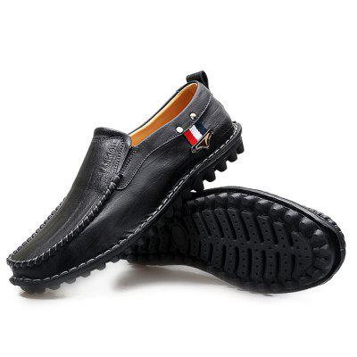 Male Casual Soft Stitching Striped Slip On Leather ShoesMen's Oxford<br>Male Casual Soft Stitching Striped Slip On Leather Shoes<br><br>Closure Type: Slip-On<br>Contents: 1 x Pair of Shoes<br>Decoration: Stripe<br>Function: Slip Resistant<br>Materials: Rubber, Leather<br>Occasion: Tea Party, Shopping, Office, Holiday, Party, Casual, Daily<br>Outsole Material: Rubber<br>Package Size ( L x W x H ): 33.00 x 22.00 x 11.00 cm / 12.99 x 8.66 x 4.33 inches<br>Package Weights: 0.97kg<br>Pattern Type: Stripe, Solid<br>Seasons: Autumn,Spring<br>Style: Modern, Leisure, Fashion, Comfortable, Casual, Business<br>Toe Shape: Round Toe<br>Type: Casual Leather Shoes<br>Upper Material: Leather