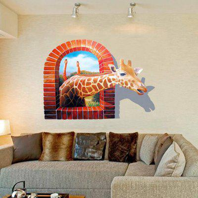 3D Giraffe Pattern Waterproof StickerWall Stickers<br>3D Giraffe Pattern Waterproof Sticker<br><br>Art Style: Plane Wall Stickers<br>Function: 3D Effect, Decorative Wall Sticker<br>Material: Vinyl(PVC), Self-adhesive Plastic<br>Package Contents: 1 x Sticker<br>Package size (L x W x H): 60.00 x 4.00 x 4.00 cm / 23.62 x 1.57 x 1.57 inches<br>Package weight: 0.2400 kg<br>Product weight: 0.1500 kg<br>Suitable Space: Bedroom,Kids Room,Living Room<br>Type: Plane Wall Sticker, 3D Wall Sticker