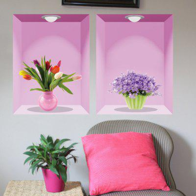 3D Vase Wall Sticker Home DecorationWall Stickers<br>3D Vase Wall Sticker Home Decoration<br><br>Function: 3D Effect<br>Material: Self-adhesive Plastic, Vinyl(PVC)<br>Package Contents: 1 x Sticker<br>Package size (L x W x H): 62.00 x 3.50 x 3.50 cm / 24.41 x 1.38 x 1.38 inches<br>Package weight: 0.2000 kg<br>Product size (L x W x H): 90.00 x 60.00 x 0.10 cm / 35.43 x 23.62 x 0.04 inches<br>Product weight: 0.1700 kg<br>Quantity: 1<br>Subjects: Flower<br>Suitable Space: Bedroom,Dining Room,Living Room<br>Type: 3D Wall Sticker