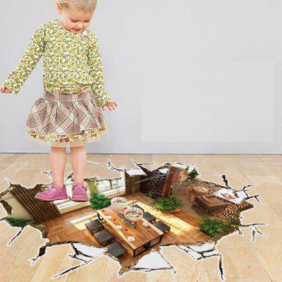 3D Room Scene Wall Sticker Home DecorationWall Stickers<br>3D Room Scene Wall Sticker Home Decoration<br><br>Function: 3D Effect<br>Material: Self-adhesive Plastic, Vinyl(PVC)<br>Package Contents: 1 x Sticker<br>Package size (L x W x H): 60.00 x 4.00 x 4.00 cm / 23.62 x 1.57 x 1.57 inches<br>Package weight: 0.2500 kg<br>Product size (L x W x H): 90.00 x 60.00 x 0.10 cm / 35.43 x 23.62 x 0.04 inches<br>Product weight: 0.1500 kg<br>Quantity: 1<br>Subjects: 3D<br>Suitable Space: Bedroom,Dining Room,Living Room<br>Type: 3D Wall Sticker