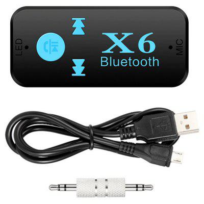 KELIMA X6 Car Bluetooth 4.1+EDR Receiver Handsfree TalkingOther Car Gadgets<br>KELIMA X6 Car Bluetooth 4.1+EDR Receiver Handsfree Talking<br><br>Apply To Car Brand: Universal<br>Bluetooth Version: Bluetooth V4.1+EDR<br>Brand: KELIMA<br>Features: Durable, Hands-free<br>Frequency Range: 2.4GHz<br>Functions: Improve driving safety<br>Material: ABS<br>Mode: X6<br>Operation distance: 10n<br>Package Contents: 1 x Bluetooth Receiver, 1 x USB Cable, 1 x 3.5mm Audio Adapter, 1 x English / Chinese Manual<br>Package size (L x W x H): 13.00 x 10.00 x 2.00 cm / 5.12 x 3.94 x 0.79 inches<br>Package weight: 0.6700 kg<br>Product size (L x W x H): 5.50 x 2.50 x 1.00 cm / 2.17 x 0.98 x 0.39 inches<br>Product weight: 0.1900 kg<br>Working Voltage: 5V
