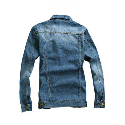 New Stylish Slim Male Denim JacketMens Jackets &amp; Coats<br>New Stylish Slim Male Denim Jacket<br><br>Closure Type: Single Breasted<br>Clothes Type: Jackets<br>Collar: Turn-down Collar<br>Embellishment: Others<br>Materials: Cotton, Polyester<br>Package Content: 1 x Coat<br>Package Dimension: 20.00 x 20.00 x 2.00 cm / 7.87 x 7.87 x 0.79 inches<br>Package weight: 0.9600 kg<br>Pattern Type: Others<br>Product weight: 0.9000 kg<br>Seasons: Autumn,Spring<br>Shirt Length: Regular<br>Size1: 2XL,3XL,L,M,XL<br>Sleeve Length: Long Sleeves<br>Style: Fashion, Classic<br>Thickness: Medium thickness<br>Type: Slim