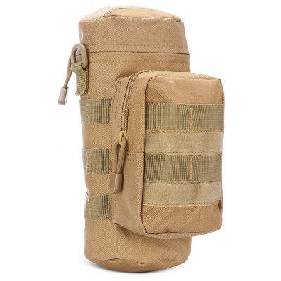 Tactical Nylon Water Bottle Bag MOLLE System 2-pocket Pouch