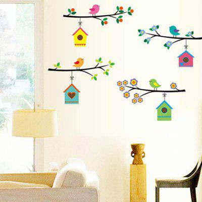 DSU Branches Bird Nest Removable Wall StickerWall Stickers<br>DSU Branches Bird Nest Removable Wall Sticker<br><br>Brand: DSU<br>Function: Decorative Wall Sticker<br>Material: Vinyl(PVC), Self-adhesive Plastic<br>Package Contents: 1 x Sticker<br>Package size (L x W x H): 55.00 x 5.00 x 5.00 cm / 21.65 x 1.97 x 1.97 inches<br>Package weight: 0.1300 kg<br>Product size (L x W x H): 50.00 x 70.00 x 0.10 cm / 19.69 x 27.56 x 0.04 inches<br>Product weight: 0.0900 kg<br>Quantity: 1 Set<br>Subjects: Animal<br>Suitable Space: Bedroom,Girls Room,Kids Room,Living Room<br>Type: Plane Wall Sticker