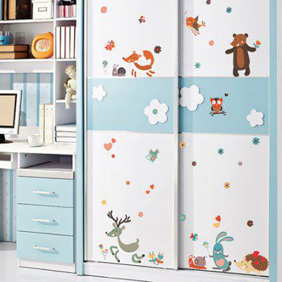 DSU Cartoon Animal Deer Pattern StickerWall Stickers<br>DSU Cartoon Animal Deer Pattern Sticker<br><br>Brand: DSU<br>Function: Decorative Wall Sticker<br>Material: Vinyl(PVC), Self-adhesive Plastic<br>Package Contents: 1 x Sticker<br>Package size (L x W x H): 55.00 x 5.00 x 5.00 cm / 21.65 x 1.97 x 1.97 inches<br>Package weight: 0.1300 kg<br>Product size (L x W x H): 50.00 x 70.00 x 0.10 cm / 19.69 x 27.56 x 0.04 inches<br>Product weight: 0.0900 kg<br>Subjects: Animal<br>Suitable Space: Bedroom,Cafes,Kids Room,Living Room<br>Type: Plane Wall Sticker