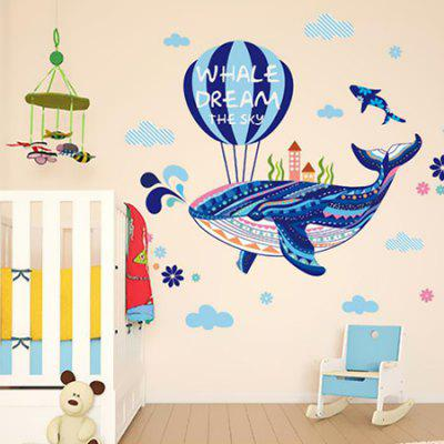 DSU Whale Design Waterproof StickerWall Stickers<br>DSU Whale Design Waterproof Sticker<br><br>Brand: DSU<br>Function: Decorative Wall Sticker<br>Material: Self-adhesive Plastic, Vinyl(PVC)<br>Package Contents: 1 x Sticker<br>Package size (L x W x H): 55.00 x 5.00 x 5.00 cm / 21.65 x 1.97 x 1.97 inches<br>Package weight: 0.1300 kg<br>Product size (L x W x H): 70.00 x 50.00 x 0.10 cm / 27.56 x 19.69 x 0.04 inches<br>Product weight: 0.0900 kg<br>Suitable Space: Bedroom,Kids Room,Living Room<br>Type: Plane Wall Sticker