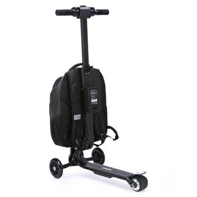 iubest IU - DB01 3-wheel Deachable Electric Backpack ScooterKick Scooter<br>iubest IU - DB01 3-wheel Deachable Electric Backpack Scooter<br><br>Battery: 18650 Li-ion battery<br>Battery Capacity: 5200mAh<br>Battery Rate: 94.9W<br>Brand: iubest<br>Charger type: Chinese Plug<br>Charging Time: 2.5 Hours<br>Folding Type: Folding<br>Max Payload: 120kg<br>Maximum Mileage: 12km<br>Maximum Speed: 15km/h<br>Mileage (depends on road and driver weight): 8-15km<br>Motor Rated Power: 100W<br>Package Content: 1 x iubest IU - DB01 Electric Backpack Scooter, 1 x Battery, 1 x Adapter, 1 x Plug<br>Package size: 40.00 x 33.00 x 70.00 cm / 15.75 x 12.99 x 27.56 inches<br>Package weight: 8.2800 kg<br>Product size: 36.00 x 60.00 x 97.00 cm / 14.17 x 23.62 x 38.19 inches<br>Product weight: 6.6000 kg<br>Seat Type: without Seat<br>Type: Electric Suitcase Scooter<br>Wheel Number: 3 Wheel<br>Working Temperature: -20 - 50 Deg.C