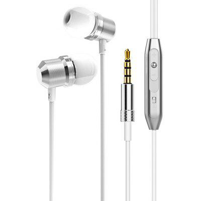 In-ear Metal Wired Magnetic Stereo Music Sports Earphones with Thread Shape