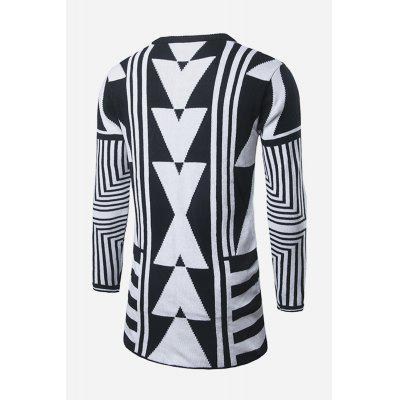 Men Fashionable Comfortable Geometric Pattern Warm Knit CardiganMens Sweaters &amp; Cardigans<br>Men Fashionable Comfortable Geometric Pattern Warm Knit Cardigan<br><br>Material: Cotton<br>Package Contents: 1 x Knit Cardigan<br>Package size: 20.00 x 20.00 x 2.00 cm / 7.87 x 7.87 x 0.79 inches<br>Package weight: 0.4400 kg<br>Product weight: 0.4000 kg