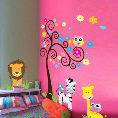 DSU Animals Pattern Design Wall StickerWall Stickers<br>DSU Animals Pattern Design Wall Sticker<br><br>Brand: DSU<br>Function: Decorative Wall Sticker<br>Material: Vinyl(PVC), Self-adhesive Plastic<br>Package Contents: 1 x Sticker<br>Package size (L x W x H): 60.00 x 5.00 x 5.00 cm / 23.62 x 1.97 x 1.97 inches<br>Package weight: 0.1700 kg<br>Product size (L x W x H): 60.00 x 90.00 x 0.10 cm / 23.62 x 35.43 x 0.04 inches<br>Product weight: 0.1300 kg<br>Subjects: Animal<br>Suitable Space: Bedroom,Kids Room,Living Room<br>Type: Plane Wall Sticker
