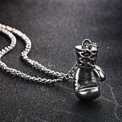 Unisex Alloy Boxing Glove Pendant NecklaceNecklaces &amp; Pendants<br>Unisex Alloy Boxing Glove Pendant Necklace<br><br>Fabric: Alloy<br>Jewelry Silhouette: Pendant<br>Occasions: Others, Party<br>Package Contents: 1 x Necklace<br>Package size (L x W x H): 5.00 x 5.00 x 3.00 cm / 1.97 x 1.97 x 1.18 inches<br>Package weight: 0.0570 kg<br>Product weight: 0.0170 kg<br>Style: Fashion<br>Type: Necklaces