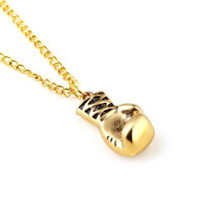Unisex Alloy Boxing Glove Pendant Necklace