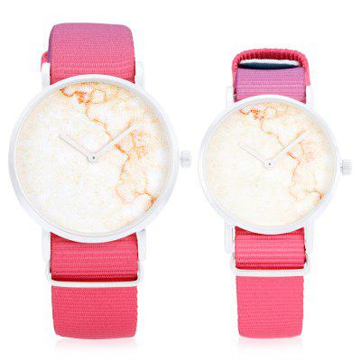 CAGARNY Bright Quartz Couple WatchesCouples Watches<br>CAGARNY Bright Quartz Couple Watches<br><br>Band material: Nylon<br>Brand: Cagarny<br>Case material: Alloy<br>Clasp type: Pin buckle<br>Display type: Analog<br>Movement type: Quartz watch<br>Package Contents: 1 x Couple Watches, 1 x Box , 1 x Couple Watches, 1 x Box<br>Package size (L x W x H): 11.00 x 8.00 x 7.50 cm / 4.33 x 3.15 x 2.95 inches<br>Package weight: 0.1600 kg<br>Shape of the dial: Round<br>The female dial dimension (L x W x H): 3.6 x 3.6 x 0.6cm, 3.6 x 3.6 x 0.6cm<br>The female size (L x W x H): 24.1 x 3.6 x 0.6cm, 24.1 x 3.6 x 0.6cm<br>The female watch band dimension (L x W): 20.5 x 1.6cm, 20.5 x 1.6cm<br>The female watch weight: 0.028kg, 0.028kg<br>The male dial dimension (L x W x H): 4 x 4 x 0.8cm<br>The male watch band dimension (L x W): 21.9 x 1.9cm<br>The male watch size (L x W x H): 25.9 x 4 x 0.8cm<br>The male watch weight: 0.036kg<br>Watch style: Retro, Fashion, Casual<br>Watches categories: Couple tables<br>Water resistance : Life water resistant