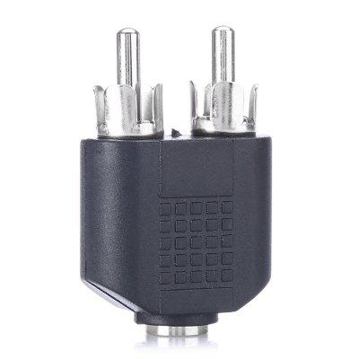3.5mm Audio Female to Dual Male RCA ConnectorCables &amp; Connectors<br>3.5mm Audio Female to Dual Male RCA Connector<br><br>Compatible with: Macbook, Notebook<br>Connector Type: AV<br>Interface: 3.5mm<br>Package Contents: 1 x Connector<br>Package size (L x W x H): 12.00 x 8.00 x 2.30 cm / 4.72 x 3.15 x 0.91 inches<br>Package weight: 0.0290 kg<br>Product size (L x W x H): 4.00 x 2.60 x 1.30 cm / 1.57 x 1.02 x 0.51 inches<br>Product weight: 0.0080 kg<br>Type: Adapter